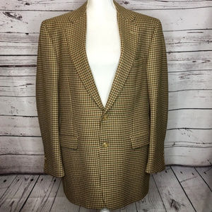 Burberry Houndstooth Brown Jacket Blazer 42LG
